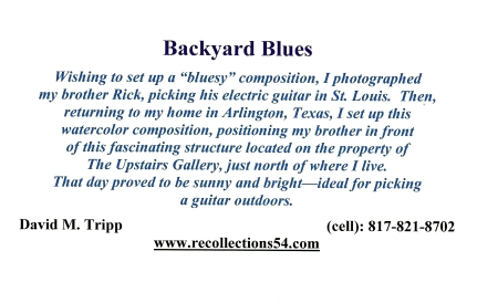 Card Backyard Blues text