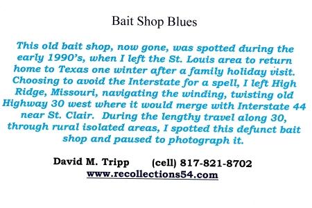 Card Baitshop Blues text