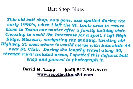 Card Baitshop Blues text