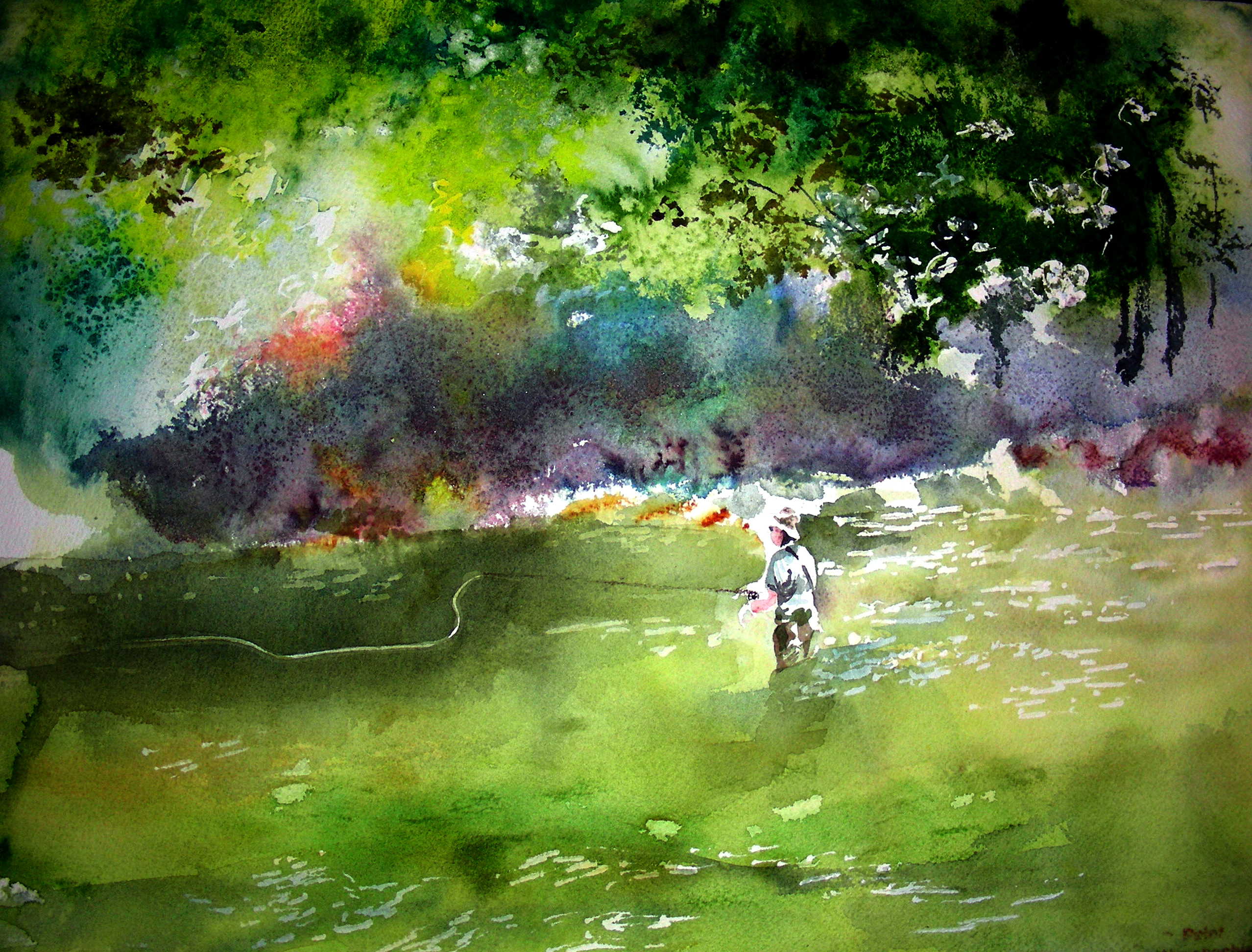 poured watercolor | Recollections 54 The Art of David Tripp