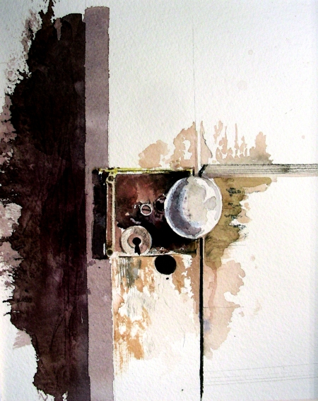 Drybrush of Vintage Door