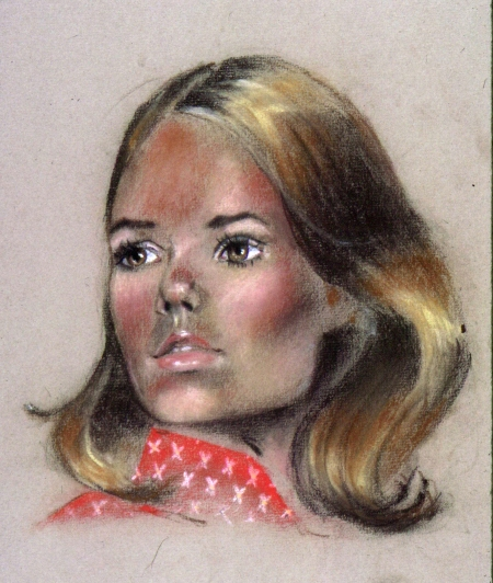 Female Pastel Portrait by Steve