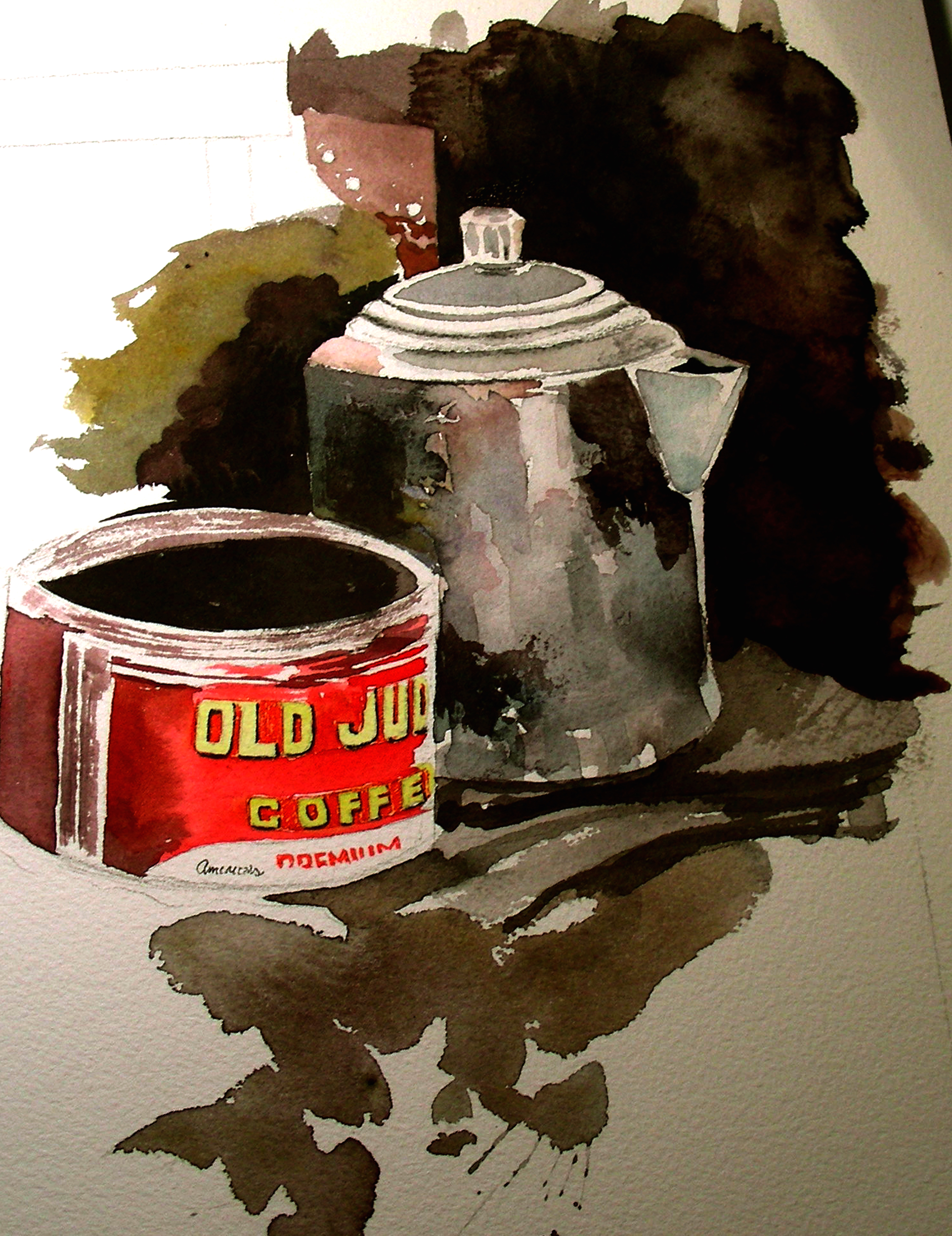 Bunn Coffee Maker Boiling Over : January 2013 David Tripp s Watercolor Wanderings and Recollections