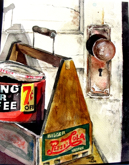 "Completed 8 x 10"" Still Life of Pepsi Carrier"