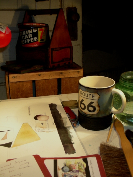 The Beginnings of a Small Watercolor Still Life