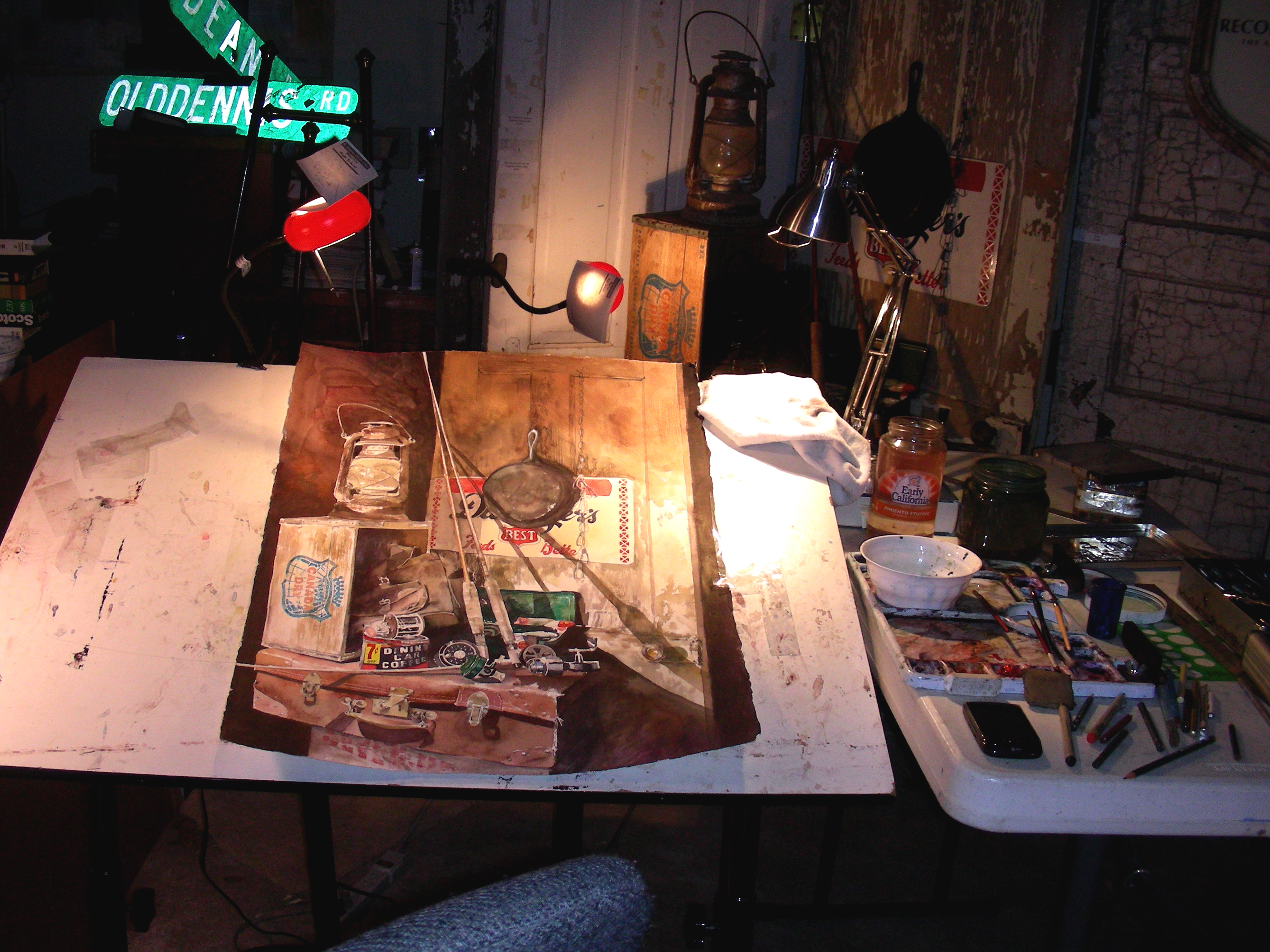 Man Cave Art Studio : Fishing recollections the art of david tripp page