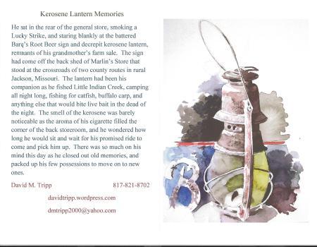 Kerosene Lantern card