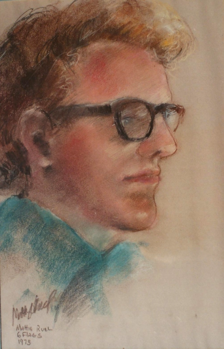 Pastel Portrait of Steve by artist Mattie Ruell