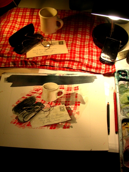 Finishing the Cafe Still LIfe