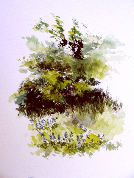 Plein Air Watercolor Sketch #1