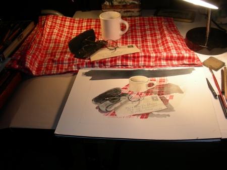 Cafe Still Life in my Studio
