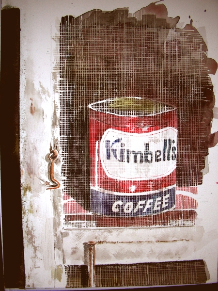 The Screen Door and Coffee Still-Life, Unmasked and Stained
