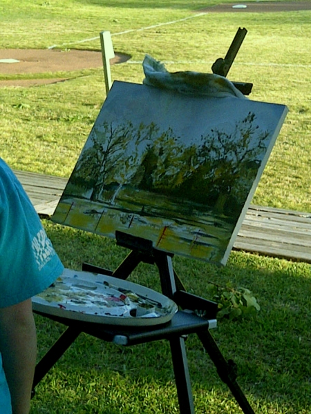 My Private Art Student Oil Painting en Plein Air
