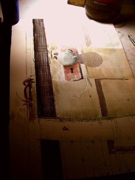 Watercolor of Screen Door