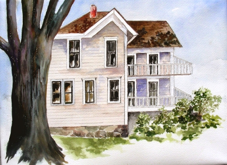 Completion of Barbara's Tuesday Watercolor