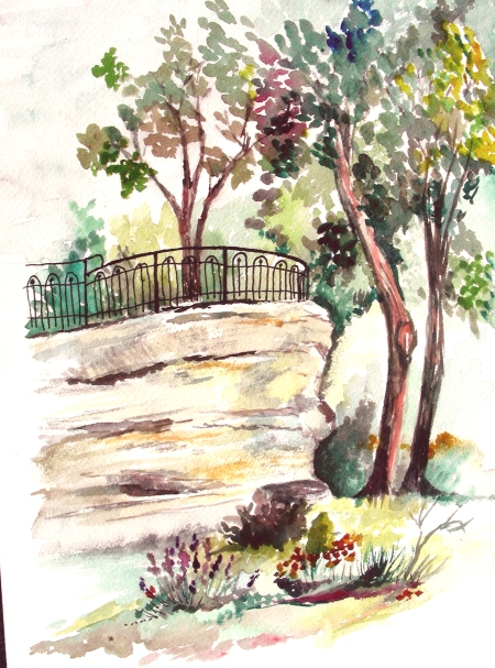 Debbie's Plein Air Rendering of Lover's Leap