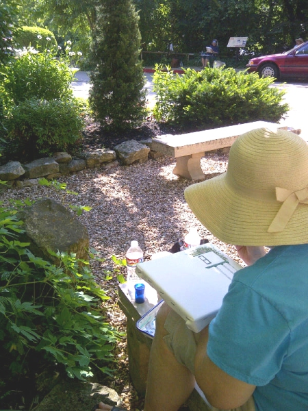 Painter at Harding Spring