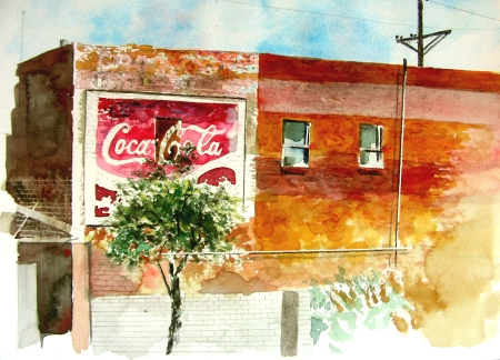 Coca-Cola Ghost Sign in Lubbock Texas