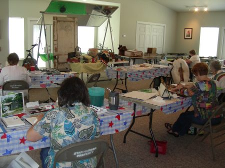 Second Day of Star Harbor Watercolor Workshop