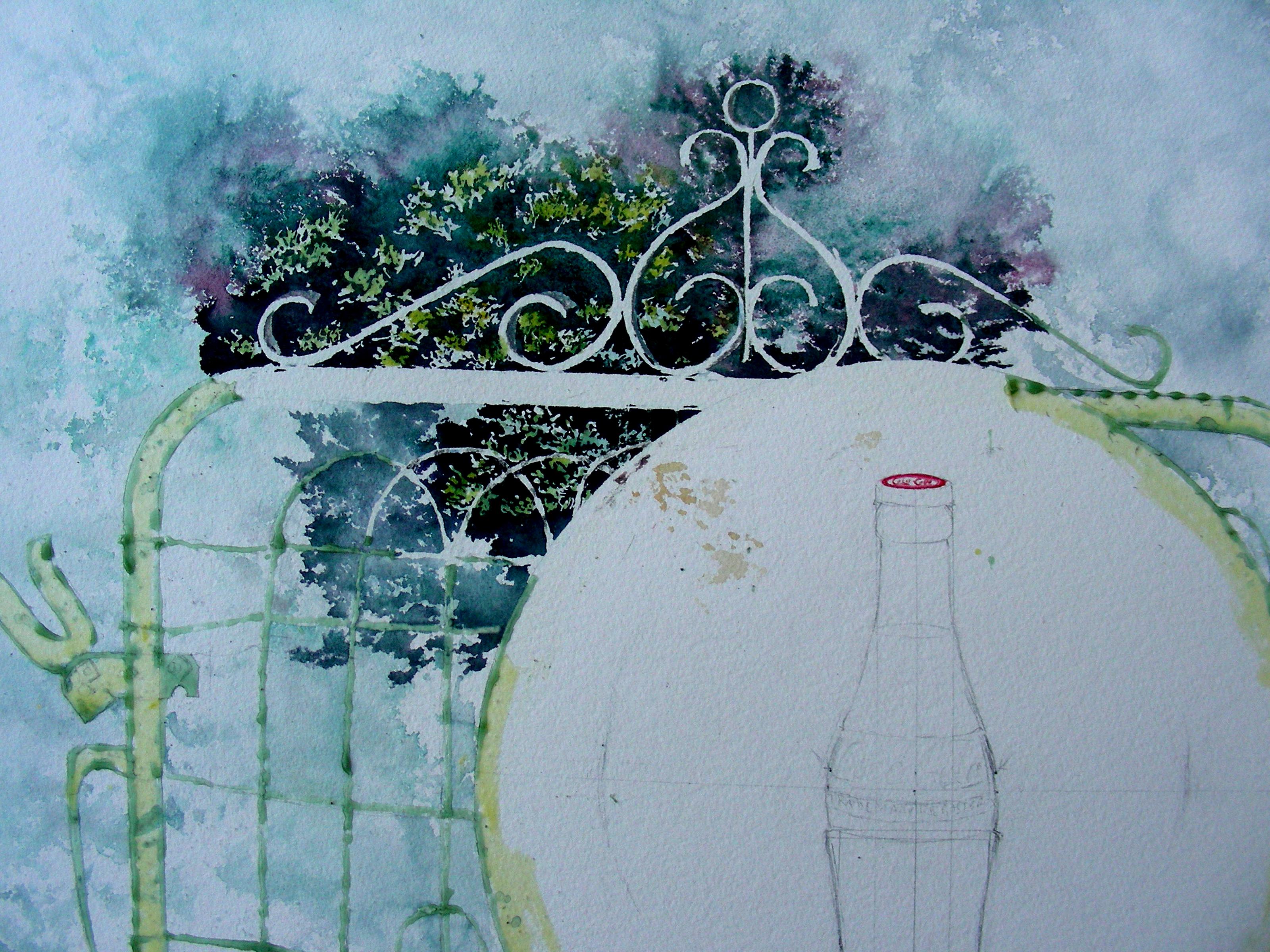 Large Watercolor in Progress