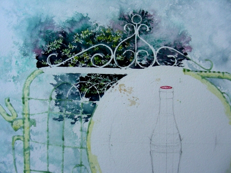 Large Watercolor in Progress