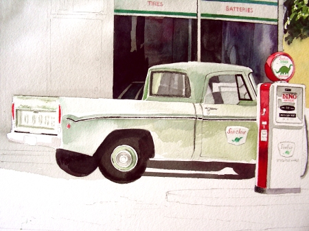 Close-up of the Truck in Progress