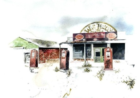 Abandoned Gas Station in Cogar, Oklahoma