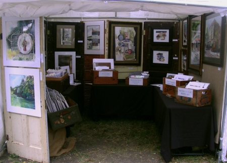My Booth at Huffhines-Trails Art Festival October 26-27