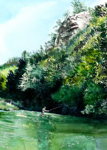 Fly Fishing at Beaver's Bend State Park, Oklahoma