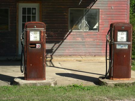 Texaco Pumps in Lexington, Texas