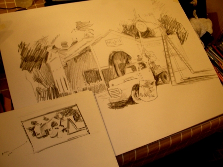 Preparatory Studies for a New Watercolor
