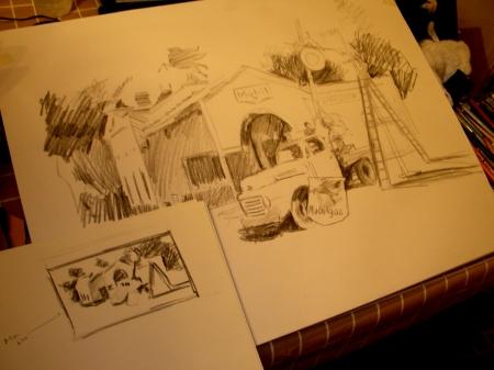 Preparatory Studies for a New Watercolor