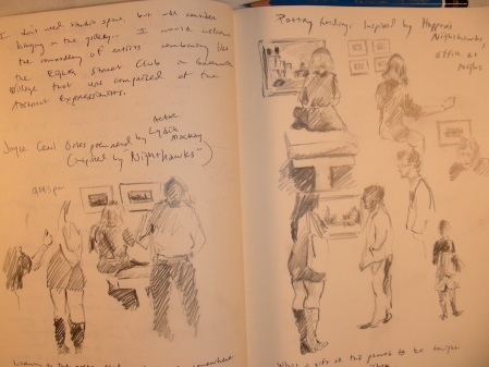 Sketches in the DMA Gallery during a Poetry Reading
