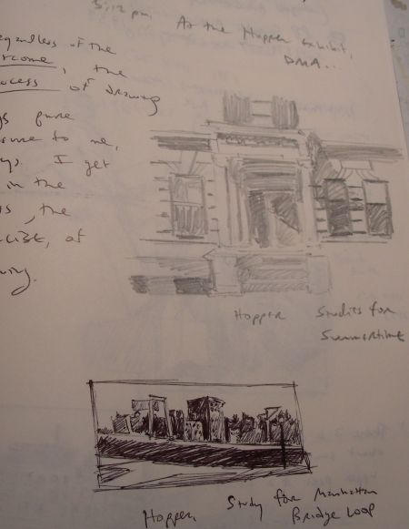 Thumbnail Sketches from the Edward Hopper Exhibit
