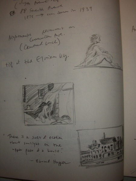 A Second Page of Sketches of Hopper Compositions