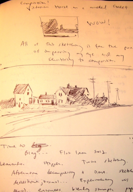 Sketching a Hopper Composition