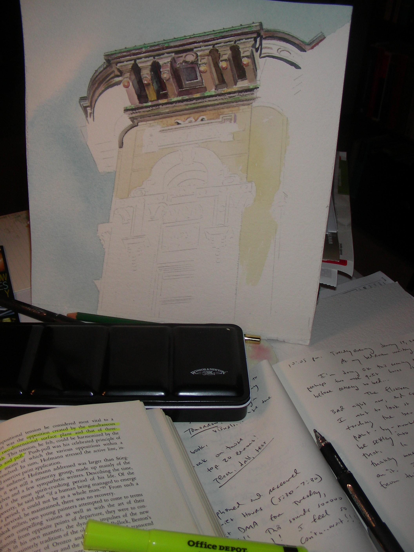 sketching-and-watercoloring