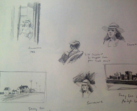 Sketching from the Hopper Exhibit