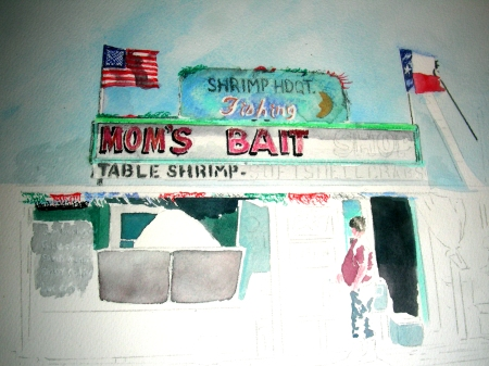 Sketch of a Bait Shop on the Texas Gulf