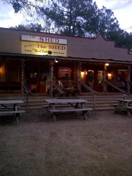 The Shed cafe, Edom, Texas