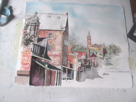 Quiet Retreat to the Watercolor Studio