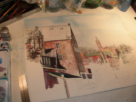 Taking a Fresh Look at the Hermann, Missouri Watercolor