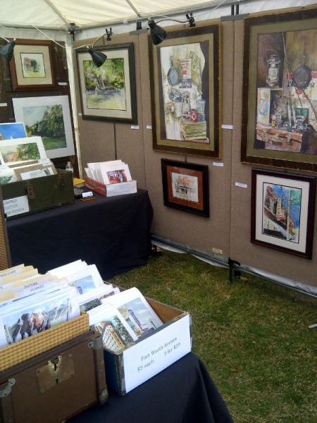 Displaying at Art in the Park.  Kennedale, Texas