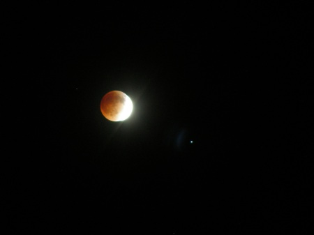 Lunar Eclipse Over Arlington, Texas.  2:00 a.m.