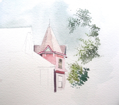 New Watercolor Sketch over the Lunch Hour