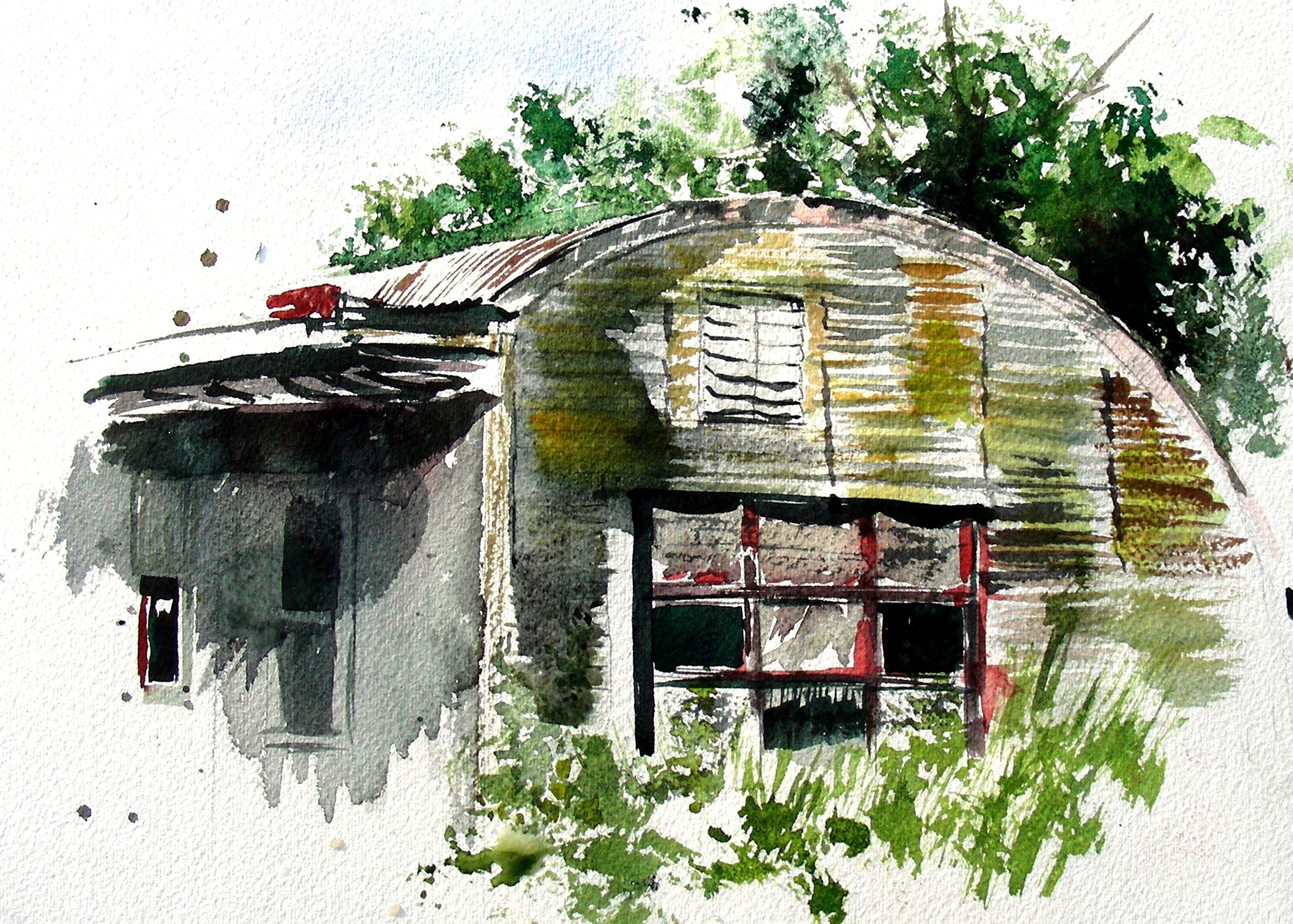 Plein Air Watercolor Sketch