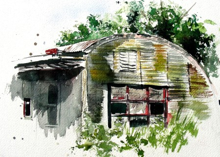 Plein Air Watercolor Sketch