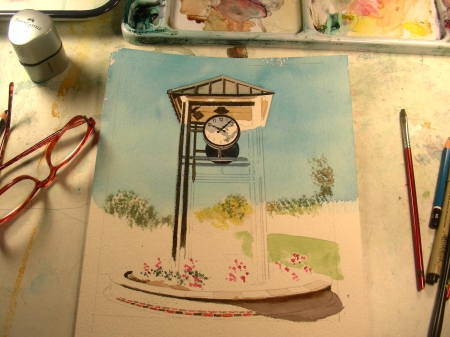 Work in Progress on a Small Clock Tower