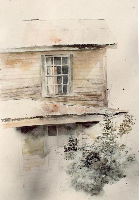 Old Watercolor Sketch of my Grandparents' Home