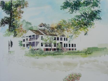 """18 x 24"""" Watercolor in Progress"""